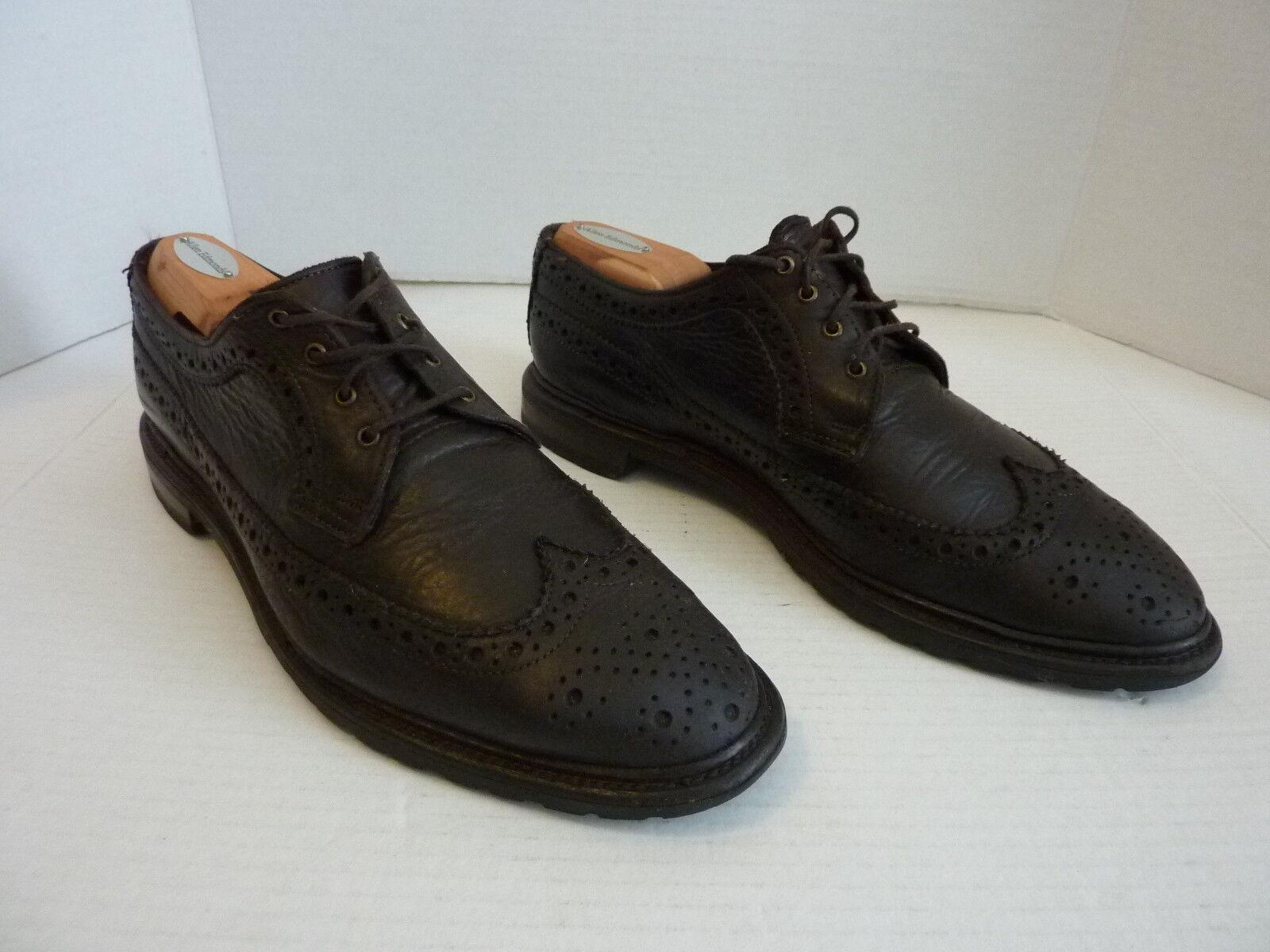 Uomo Allen Edmonds Dark marrone Oxford Shoe 9.5 D Pebble Pelle Wingtip