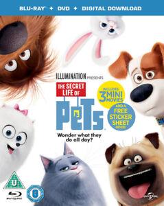 The-Secret-Life-of-Pets-Blu-Ray-2016-Chris-Renaud-cert-U-2-discs-NEW