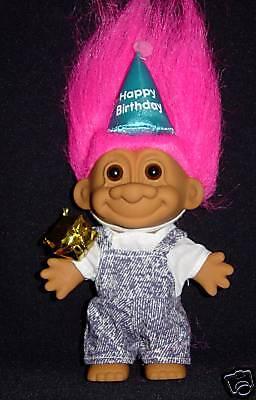"HAPPY NEW YEAR Russ Troll Doll 3/"" NEW IN BAG"