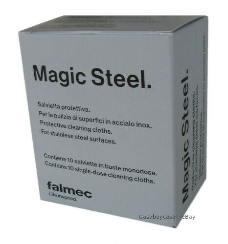 FALMEC magic steel 10 salviette protezione e pulizia acciaio tipo clin clin   ì