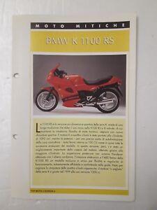 Scheda Tecnica Top Moto Mitiche Bmw K 1100 Rs Ebay