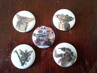 5 Gremlins Pin button Badges 80's Cult horror Movie 2 Critters gore retro