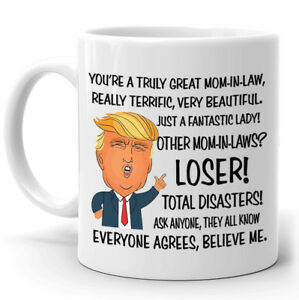 Funny Mug Birthday Gift for Mom-In-Law Donald Trump Great Mom Coffee Mug Tee Cup