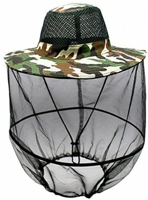 Luwint Mosquito Head Net Hat, Camo Sun Hat Beekeeper Hat With Insect Repellent