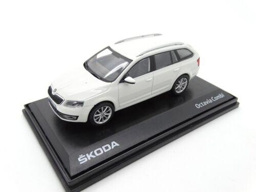 Skoda Octavia III combi maqueta de coche en miniatura 1:43 Candy-blanco mvf43-803