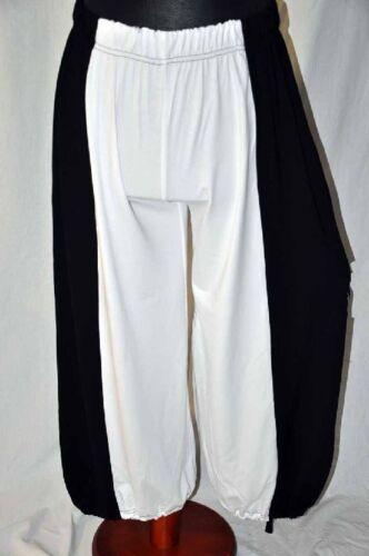 MYO-Lagenlook Jersey-Ballonhose Loch hinten Zugband schwarz-weiss XL,XXL,XXXL,