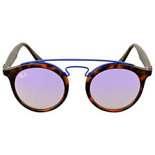 Ray Ban Lilac Gradient Mirror Round Sunglasses