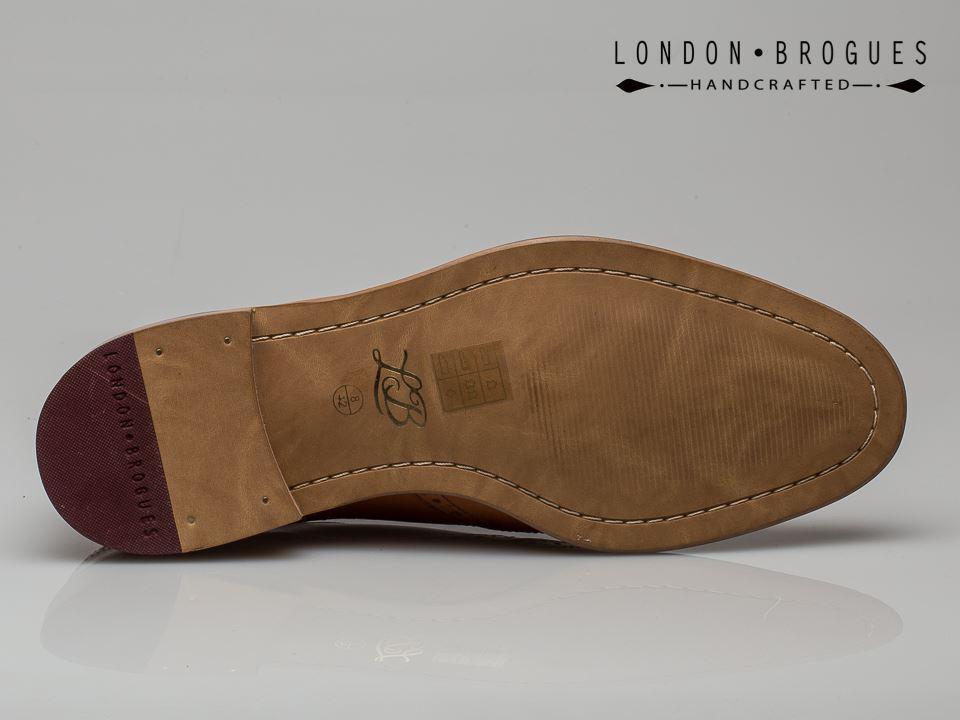 LONDON Brogues George Hombre zapatos  Formales Con Cordones Brogue Estilo Brogue Cordones Marrón 682104