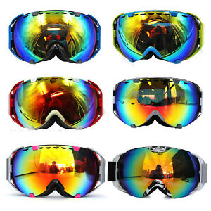 Adults Snow Snowmobile Snowboard SKI UV GOGGLES Anti Fog Glasses Winter Sports