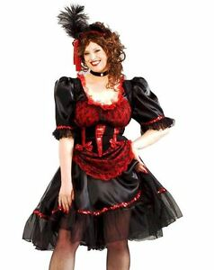 Image is loading Sexy-Red-Adult-Saloon-Girl-Costume-Dress-Can-  sc 1 st  eBay & Sexy Red Adult Saloon Girl Costume Dress Can Can Burlesque Western ...