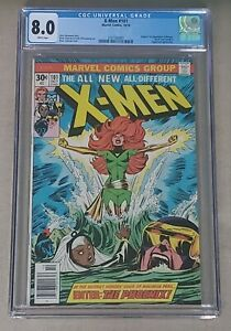 X-Men-101-CGC-8-0-VF-WHITE-PAGES-1st-Appearance-of-Phoenix-1976