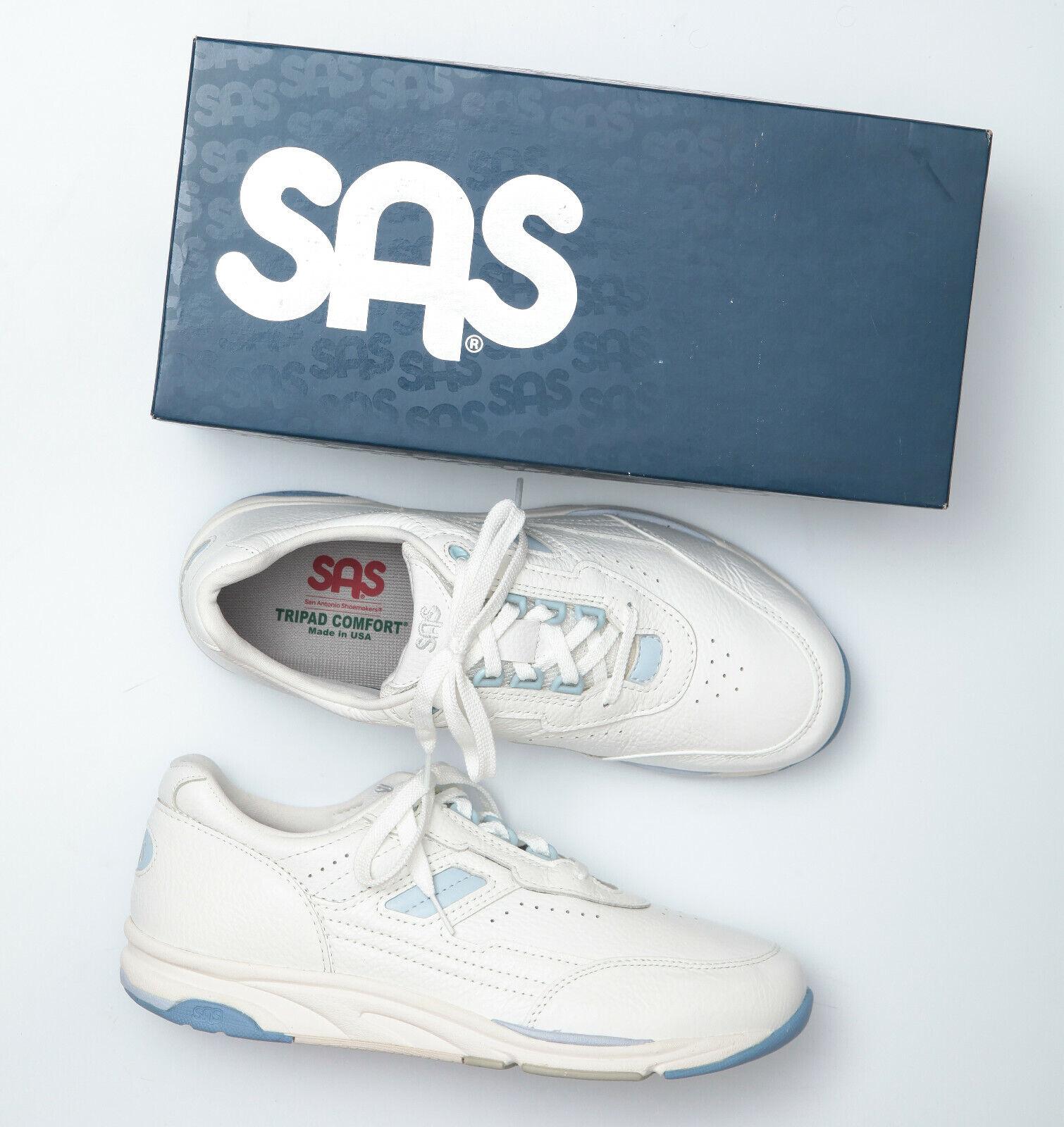 SAS Tour bianca Leather Walking Comfort scarpe da  ginnastica - Wouomo 10 W  connotazione di lusso low-key