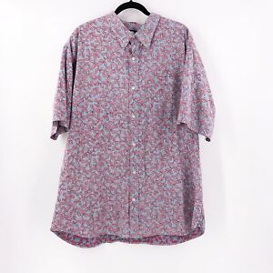 Reyn Spooner Aloha Shirt Size XXL Mens Tailored Fit  Button-Front Reverse Print