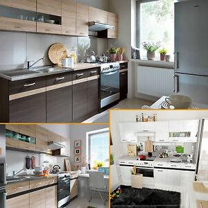 Küche 2,4m TÜV gepr. Herst. 4 Farben Einbauküche Küchenzeile ...