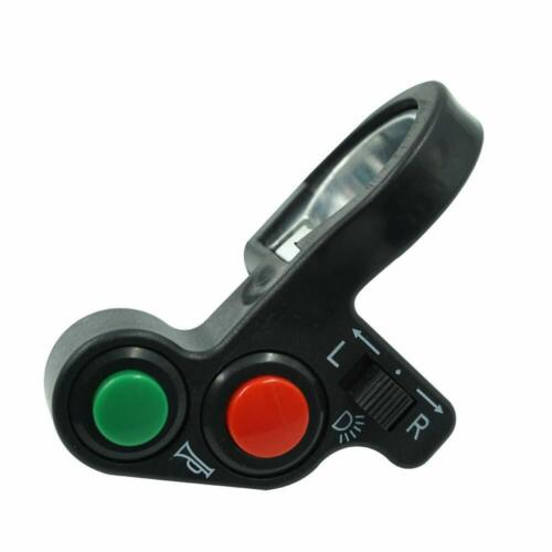 """Motorcycle 7//8/"""" Switch On Off Horn Headlight Turn Signals Push Button Handlebar"""