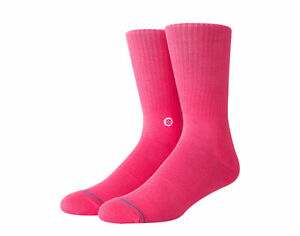 Stance Icon Classic Crew Neon Pink Socks M311D14ICO-NOP Large