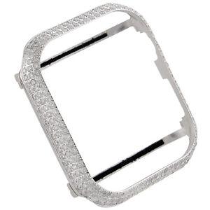 Apple Watch Series 4 Stainless Steel 44mm Sport Bezel Genuine Diamond Case 4 Ct Ebay