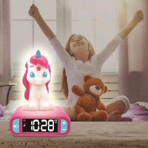 Licorne-Veilleuse-Alarme-Horloge-Reveil-Matin-3D-Filles
