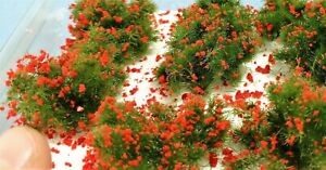 Warhammergreen-Shrubs-2-1-5-8in-About-With-Red-Flowers-w17-Accessories-Diorama