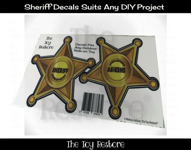 Toy Restore Replacement Stickers for Little Tikes Step2 Sheriff Coupe Car Star
