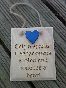 Teacher-Gift-Wooden-Engraved-Plaques-Various-Sayings-amp-Bespoke-End-of-Term-Gift
