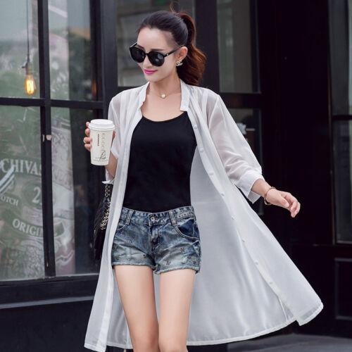 HOT Sleeved chiffon shirt loose sun clothes air conditioning shirt thin coat