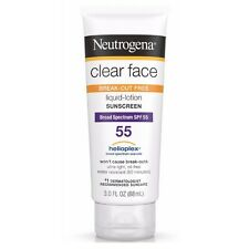 Neutrogena Clear Face Break-Out Free Liquid-Lotion Sunscreen SPF 55 3 oz