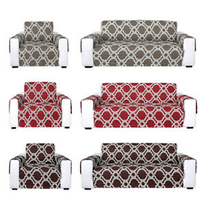 Prime Details About 1 2 3 Seater Reversible Quilted Sofa Cover Furniture Protector Throw W Strap Machost Co Dining Chair Design Ideas Machostcouk