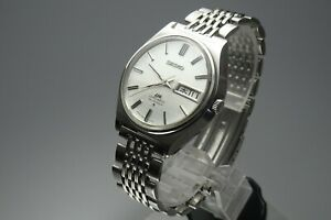 OH-Vintage-1977-JAPAN-SEIKO-LORD-MATIC-WEEKDATER-5606-7010-25Jewels-Automatic