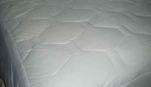Bed Mattress Pad Cover Protector Fitted Quilted Queen Size Hypoallergenic White