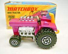 Matchbox Superfast nº 25b mod tractor 1. gußform con focos top en Box