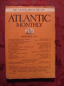 ATLANTIC-September-1931-Andre-Andre-Maurois-Agnes-Repplier-Lord-Dunsany