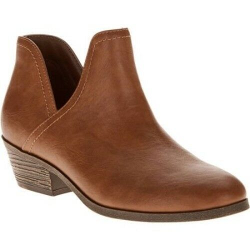 Faded Glory Women's Slit Boot Brown Size 11 NEW