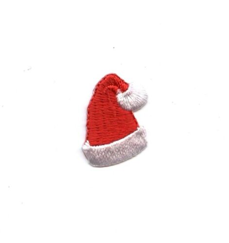 Small//Mini Iron on Applique//Embroidered Patch Christmas Red Santa Claus Hat