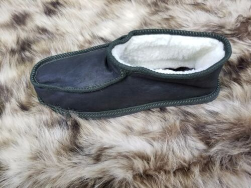"N&A GREEK HANDMADE GENUINE ""LEATHER & FUR"" ΜEN'S SLIPPERS, BOOTS STYLE"