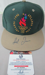 Ted Turner Signed 1996 Atlanta Olympic Hat - Global Authentics