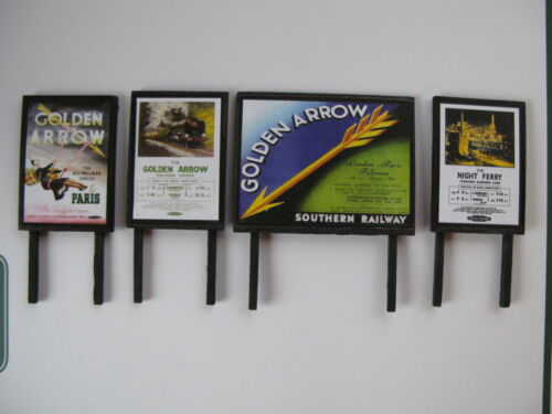 Southern Golden Arrow Billboard Pack OO Gauge 4mm Model Railway
