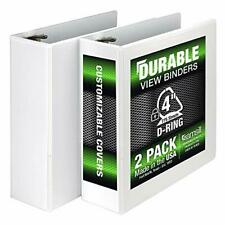 Samsill Durable 3 Ring View Binders 4 Inch Locking D Ring Holds 800 Sheets 2