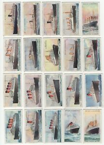 1924-Wills-039-s-Merchant-Ships-of-the-World-Tobacco-Cards-Complete-Set-of-50
