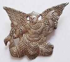Insigne Armée de l'Air INDOCHINE AIR CAMBOGE KHMER AIR FORCE locale argent 1950s