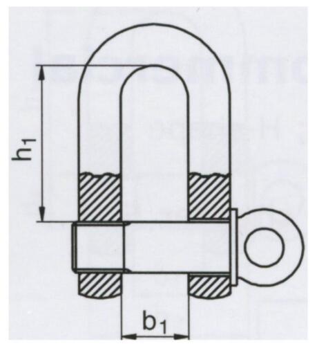 verzinkt 5 Stück Schäkel gerade handelsüblich 12 mm galv
