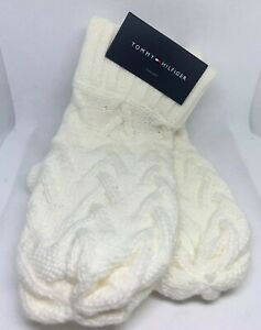 New-Women-s-Tommy-Hilfiger-Cold-Winter-Glove-Ivory-Cabin-Knit-42-MSRP