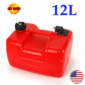 12L/3.2Gallon Portable Fuel Tank Boating Generator Gas Storage Plastic Container