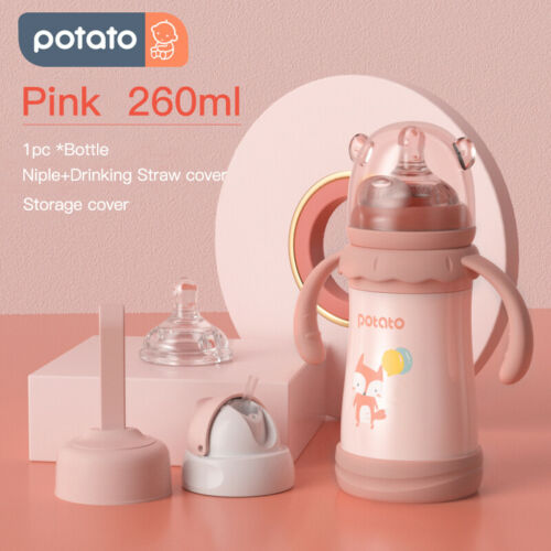 POTATO Baby Thermos Cup Water Bottle for Kids Sippy Cups Vacuum Flask 260ML