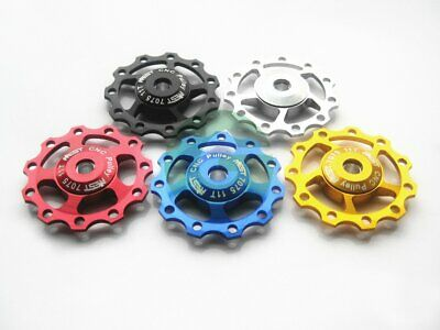 2pc RED Rear Derailleur 11T Alloy Jockey Wheels Pulley For Shimano SRAM