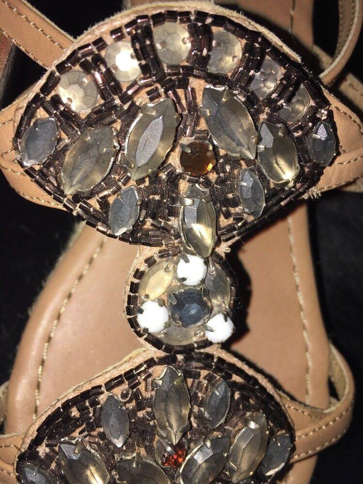 Tolle Luxus Cruz Lola Cruz Luxus Leder Wedges Sandaletten High Heels 37 Wie NEU    NP 0c8104