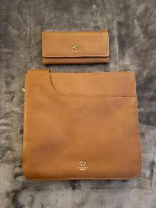 Radley Tan Cross Over Bag And Purse Set