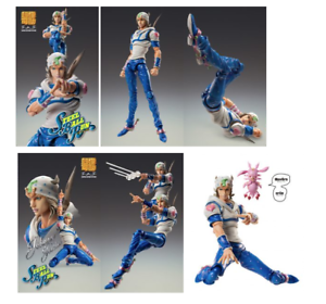 JOJO Super Action Statue Johnny Joestar Figure & Bonus Tusk MEDICOS JAPAN