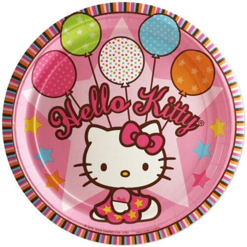 Hello Kitty Balloon Dreams Lunch Plates 8 Per Package Birthday Party Supplies
