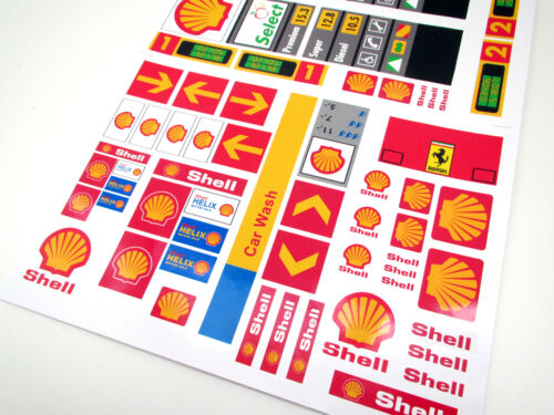 CUSTOM CITY SHELL STICKERS  for SETS Lego 1253 1255 1256 and more! TOWN